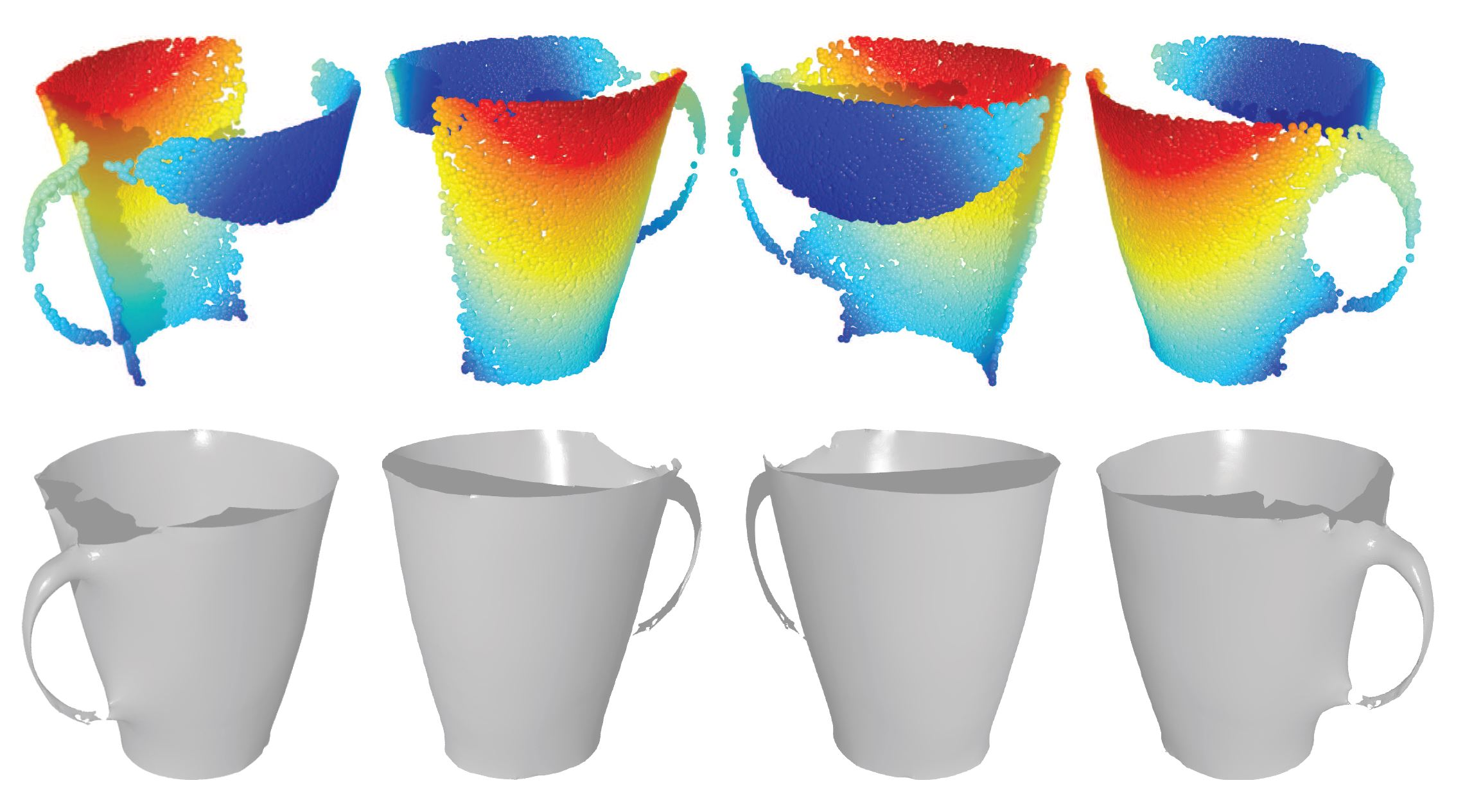 Estimating image depth using shape collections for every object we show the input 2d image the extracted similar shapes the reconstructed point cloud and finally the ground truth kinect scan reviewsmspy